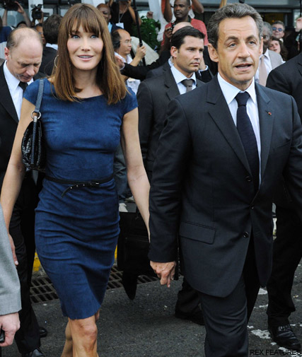 Carla Bruni President Sarkozy-  Carla Bruni expecting twins? - Carla Bruni expecting - Carla Bruni Pregnant - Marie Claire - Marie Claire UK