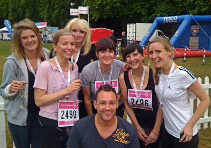 Team Marie Claire at Race for Life 2011