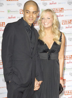 Emma Bunton and Jade Jones-engagement ring photos