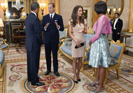 Prince William and Kate Middleton meet Michelle and Barack Obama