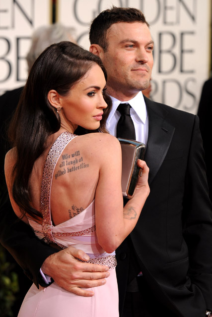 Megan Fox and Brian Austin Green - Cutest Couples - Golden Globes 2011 - see, pics, pictures, pair, Celebrity, Marie Claire