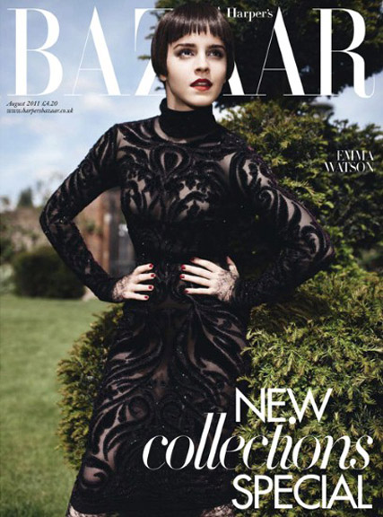 Emma Watson - Guess who? Emma Watson's dramatic cover makeover - Emma Watson Harpers Cover - Emma Watson Style - Harry Potter - Marie Claire - Marie Claire UK