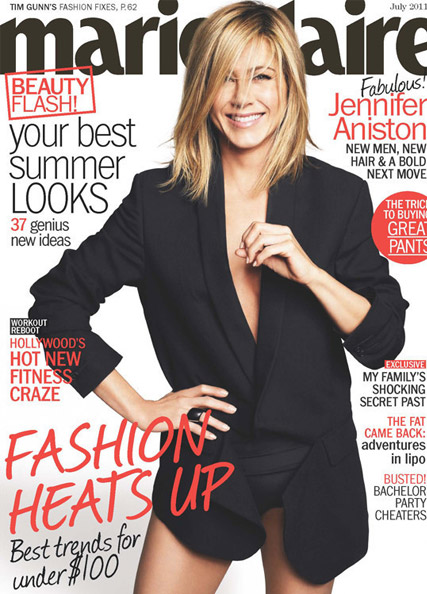 Jennifer Aniston -PICS! Jennifer Aniston?s sizzling Marie Claire cover - Jennifer Aniston Marie Claire - Jennifer Aniston - Marie Claire cover - Marei Claire - Marie Claire US - Marie Claire UK
