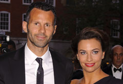Ryan Giggs and his wife Stacey