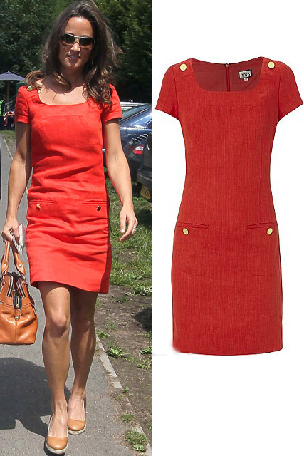 Pippa Middleton - Style star Pippa Middleton?s red dress sells out in stores - Pippa Middleton Hobbs Dress - Pippa Middleton Red Dress - Pippa Middleton Style - Marie Claire - Marie Claire UK