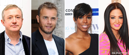 Louis Walsh, Gary Barlow, Kelly Rowland and Tulisa Contostavlos - X Factor - Cheryl Cole not returning to UK X Factor - Cheryl Cole - Simon Cowell - Marie Claire - Marie Claire UK