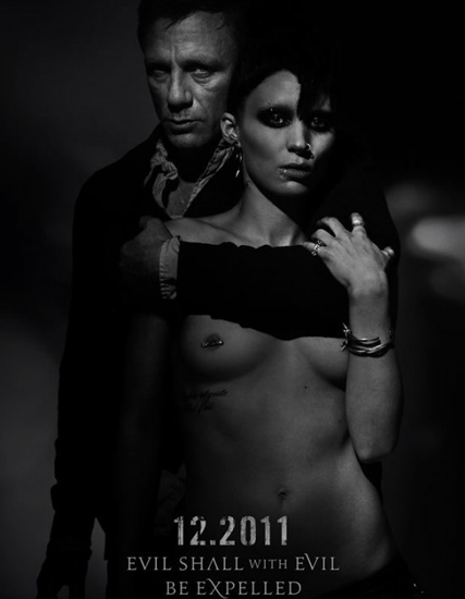 The Girl With The Dragon Tattoo - Rooney Mara and Daniel Craig