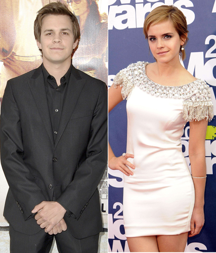 Emma Watson dating Johnny Simmons? - new boyfriend - Perks of Being  Wallflower