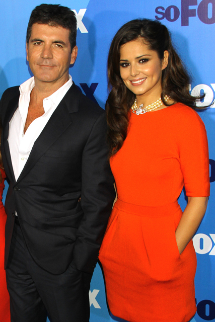 Simon Cowell and Cheryl Cole at the 2011 Fox Upfront Presentation
