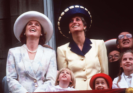 Sarah Ferguson and Princess Diana
