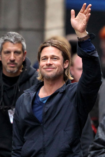 Brad Pitt filming World War Z in Glasgow