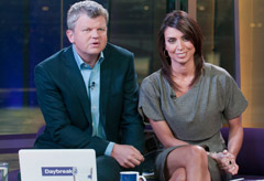 Adrian Chiles and Christine Bleakley on Daybreak