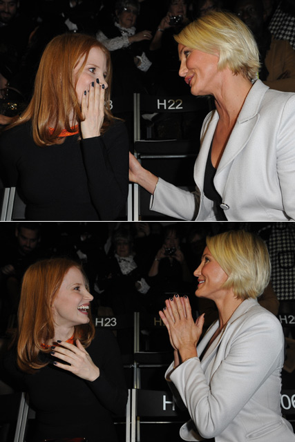 Jessica Chastain - Jessica Chastain Oscar nominations - PICS: Jessica Chastain gets Oscar nomination call at Armani show - Oscar Nominations - Marie Claire - Marie Claire UK
