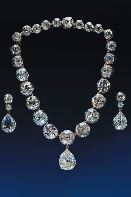 The Coronation Necklace and earrings, 1858, R & S Garrard