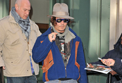 Johnny Depp, celebrity style, street style, new york, marie claire, marie claire uk