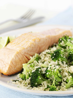 Dukan salmon and broccoli tabbouleh for Fish and broccoli diet