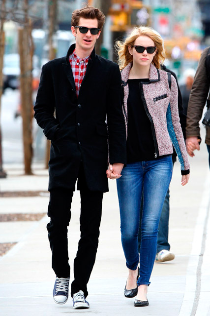 Andrew Garfield & Emma Stone - Andrew Garfield - Emma Stone - Andrew Garfield dating Emma Stone - Amazing Spider-Man - Marie Claire - Marie Claire UK