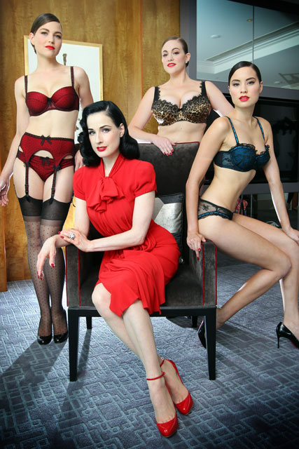 ae179a1099a1 Dita Von Teese rejects skinny models for her lingerie collection