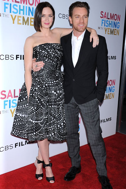 Emily Blunt and Ewan McGregor - Salmon Fishing in the Yemen - Red Carpet Photos - Marie Claire - Marie Claire UK