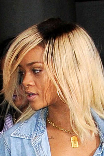 Rihanna debuts unusual new dark roots hairstyle