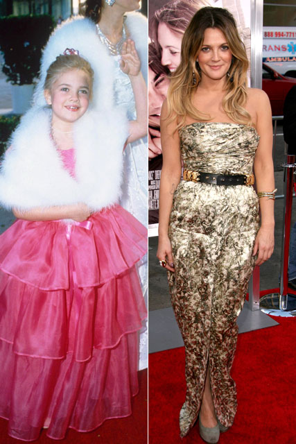 Drew Barrymore - from child to star to grown-up glamour