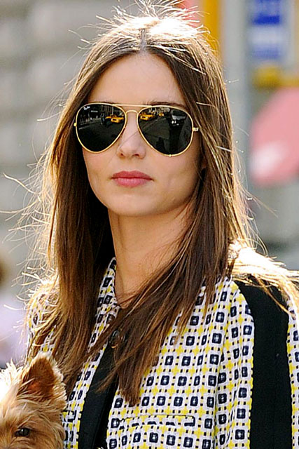 Hairstyles for round faces - Miranda Kerr