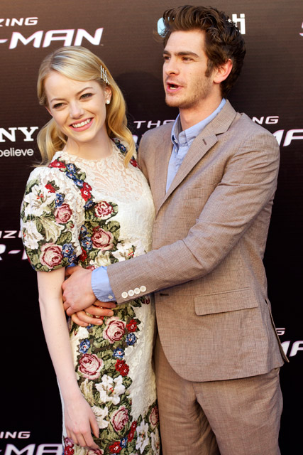 Emma Stone and Andrew Garfield - The Amazing Spider-Man - Marie Claire - Marie Claire UK