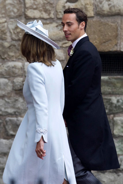 Carole Middleton and James MIddleton - Royal Wedding - Marie Claire