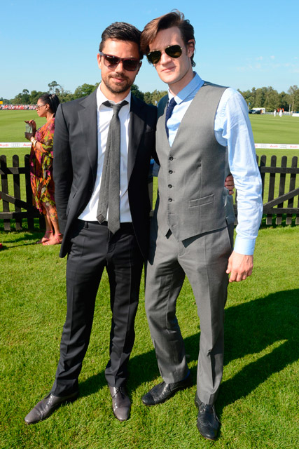 Dominic Cooper and Matt Smith at the Audi Polo International 2012 in Windsor