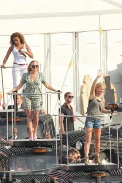 Spice Girls rehearsing for Olympics closing ceremony