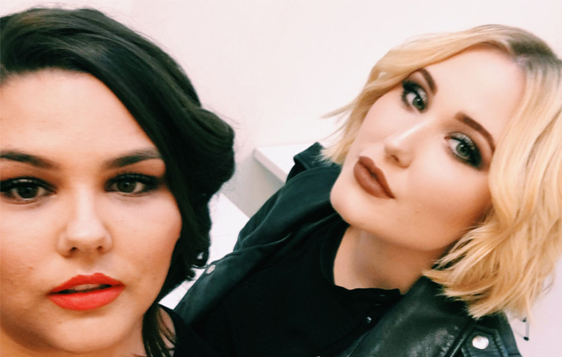 Picture perfect: Marie Claire columnist Callie Thorpe and curve model Hayley Hasselhoff