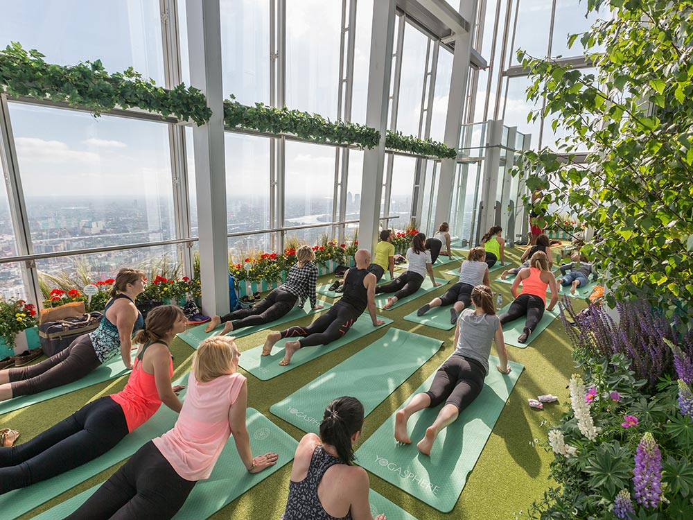Yogasphere class at the Shard