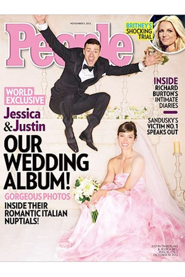 In Timberlake And Jessica Biel Wedding Photo