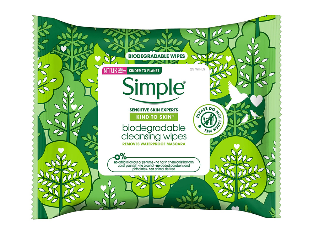 simple biodegradable wipes