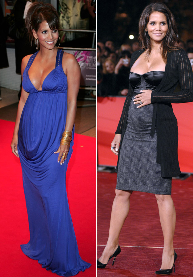 2fa169c0597fe Halle Berry - Stylist Celebrity Baby Bumps - Best Dressed Celebrity Baby  Bumps - Pregnant Celebrities