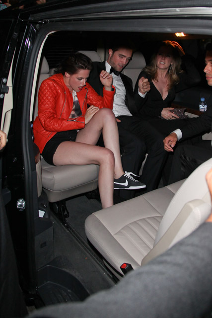 Robert Pattinson and Kristen Stewart sneak out of Cannes party