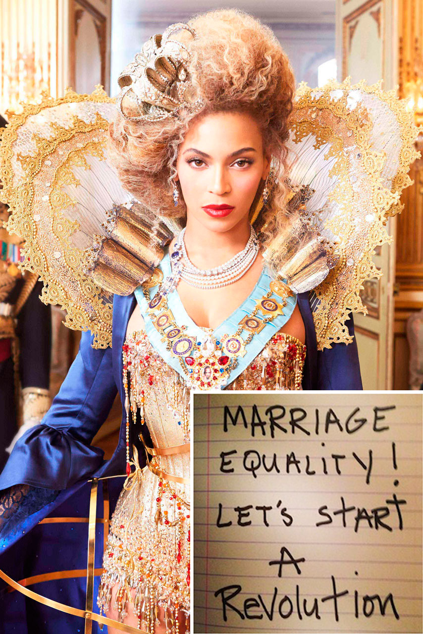 Beyonce supports gay marriage