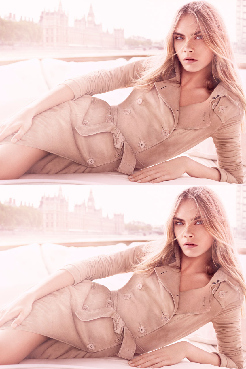 Cara Delevingne Fronts New Burberry Body Tender Campaign