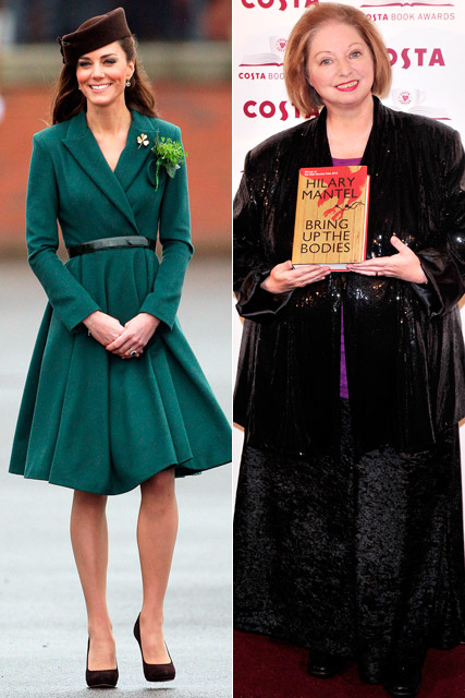 Kate Middleton and Hilary Mantel