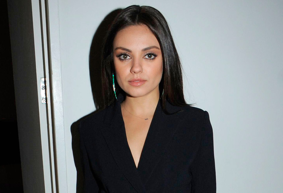 Mila Kunis And Ashton Kutcher Party With Marie Claire