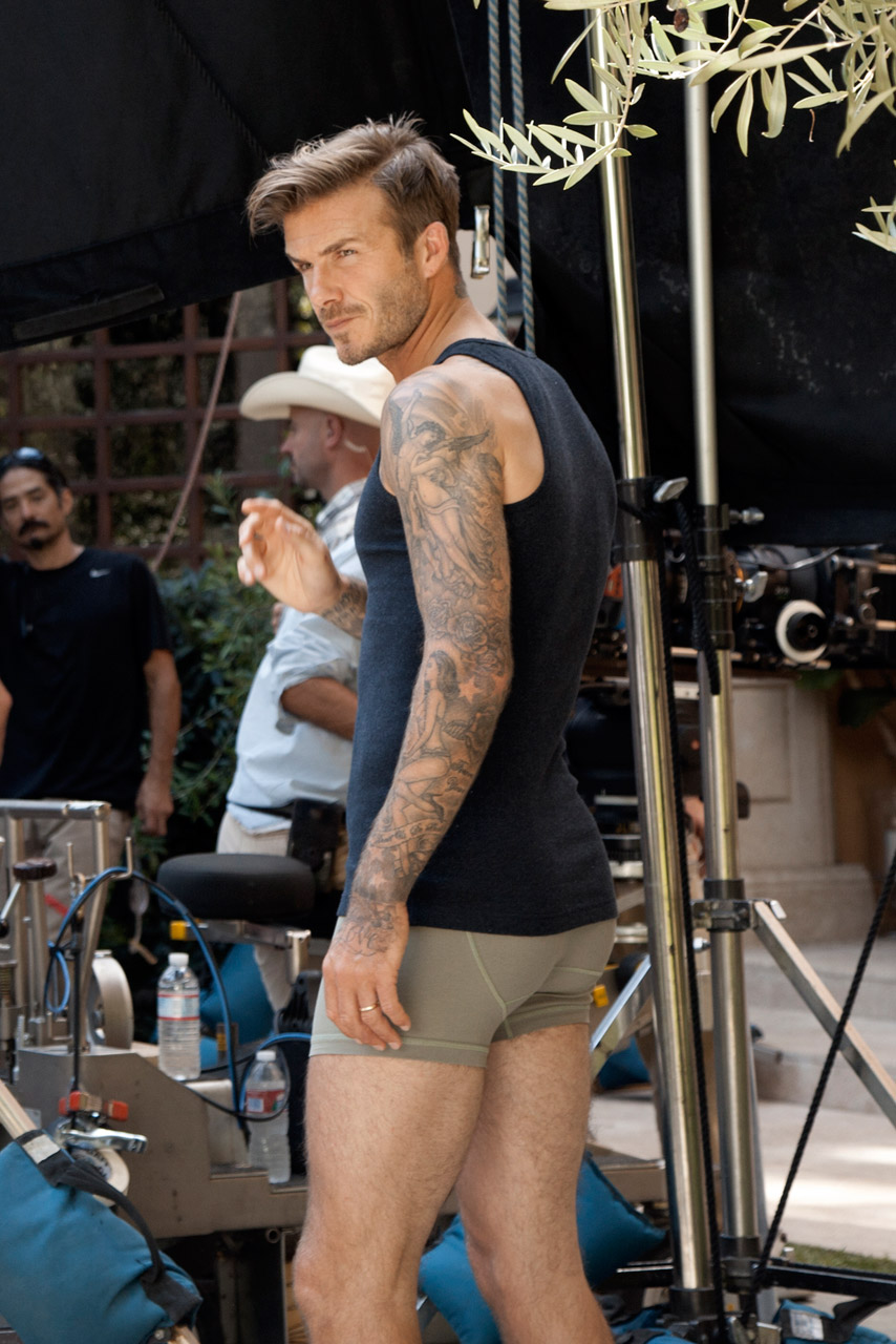 David Beckham Shoots New Bodywear At H M Film Directed By