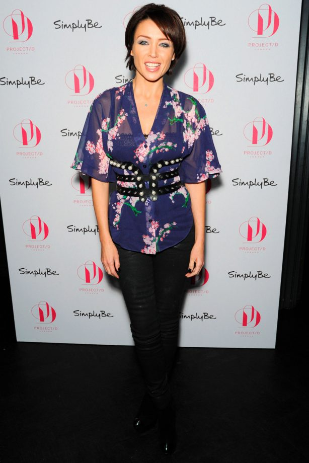 Dannii Minogue at the launch of Project D for Simply Be