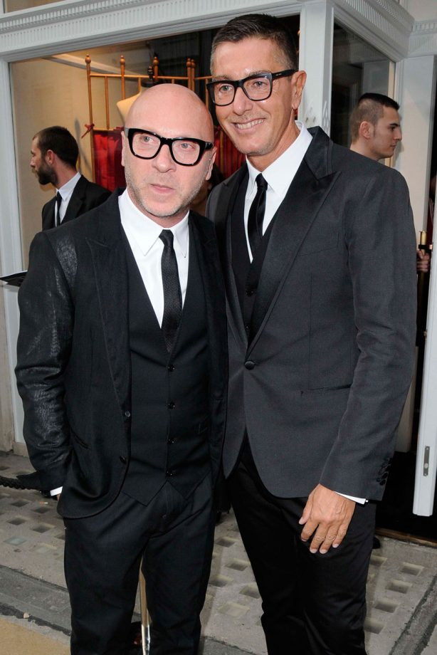 Dolce & Gabbana at the opening of the New Bond Street store