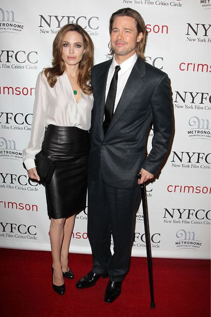 Brad Pitt and Angelina Jolie - Critics Circle Awards - Angelina Jolie Critics Circle Awards - Brad Pitt Critics Circle Awards - Angelina Jolie - Brad Pitt - Marie Claire - Marie Claire UK