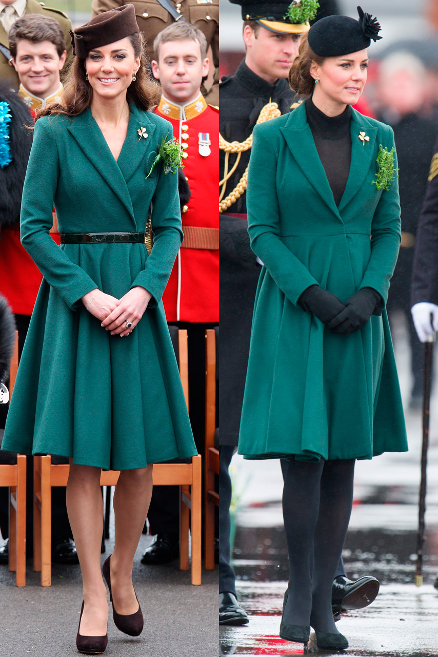 Kate Middleton recycles Emilia Wickstead for St Patrick's Day Parade
