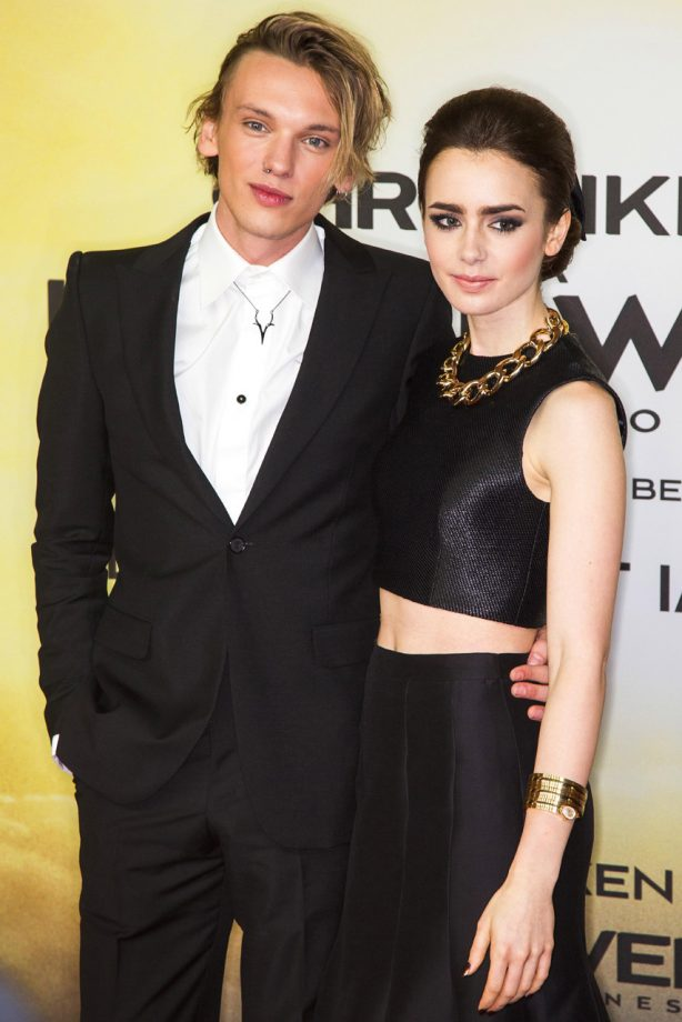 Lily Collins - Jamie Campbell Bower - Mortal Instruments Berlin premiere - Marie Claire - Marie Claire UK