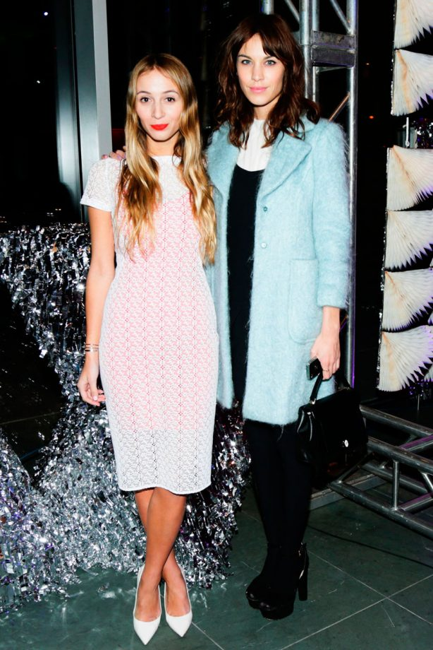 Alexa Chung and Solange Knowles at MoMA presents The 2013 Armory Party in New York