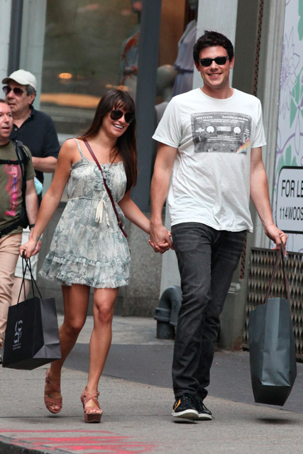 Cory monteith talks about dating lea michele