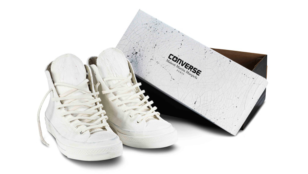 b9ecdcfc3fd2 Maison Martin Margiela and Converse s collaboration features a range of  high-top All-Star and low-top Jack Purcell trainers launching in stores  this month ...