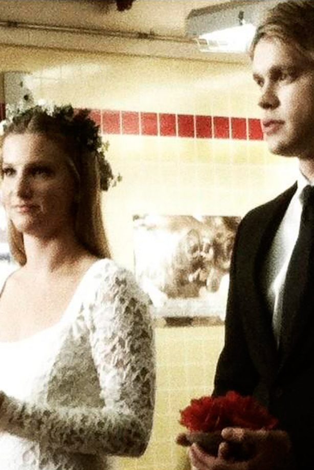 Heather Morris and Chord Overstreet